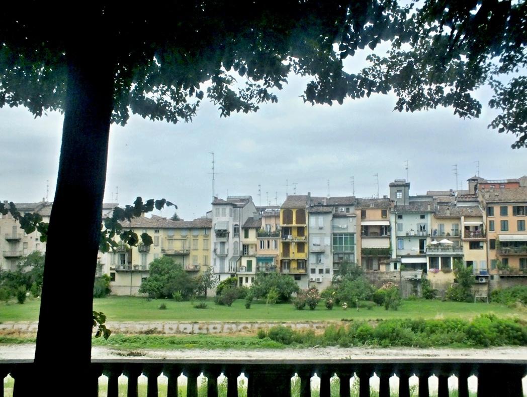 река Парма и окружающие здания