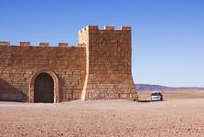 kulisa středověkého hradu