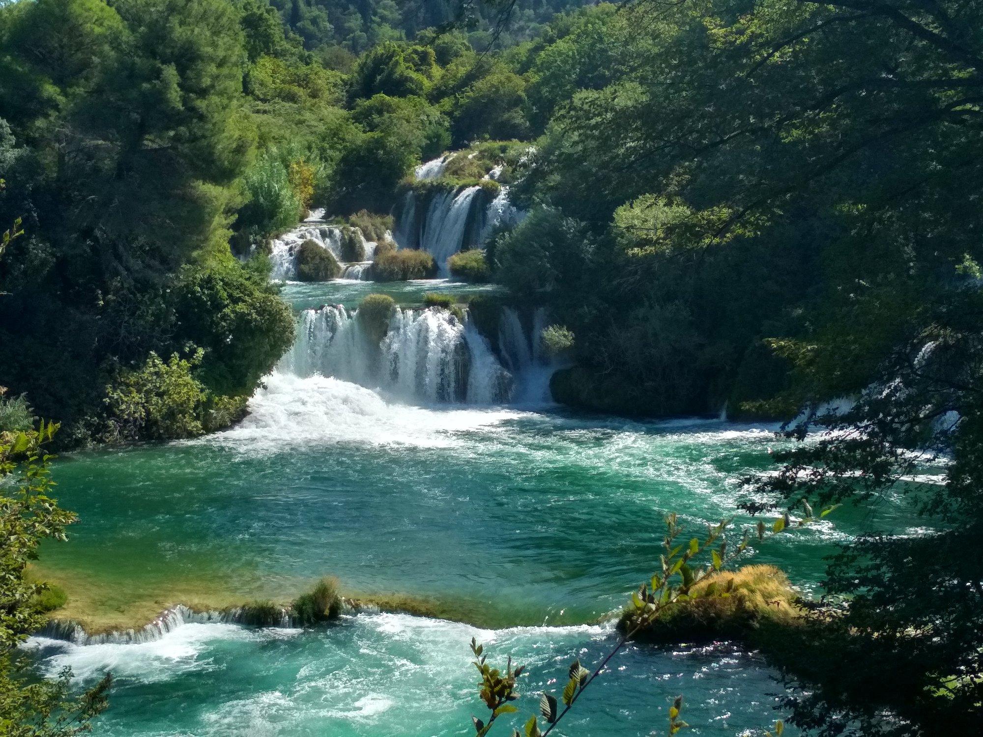 kaskáda na rieke Krka