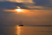 романтический закат солнца