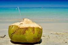 čerstvý kokos si můžete zakoupit v jakémkoliv resortu na ostrově