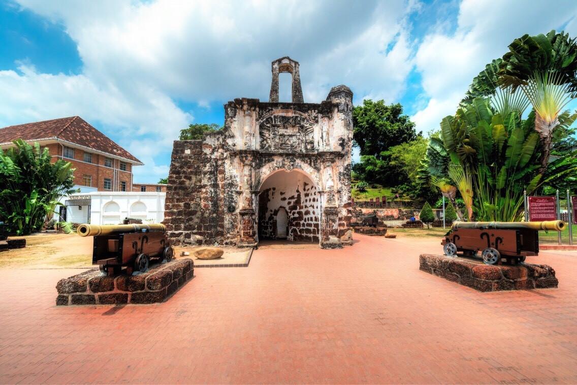pozostatky portugalskej pevnosti A Famosa