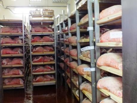 šunka v chladničke, Salumifico Massimo (Langhirano)