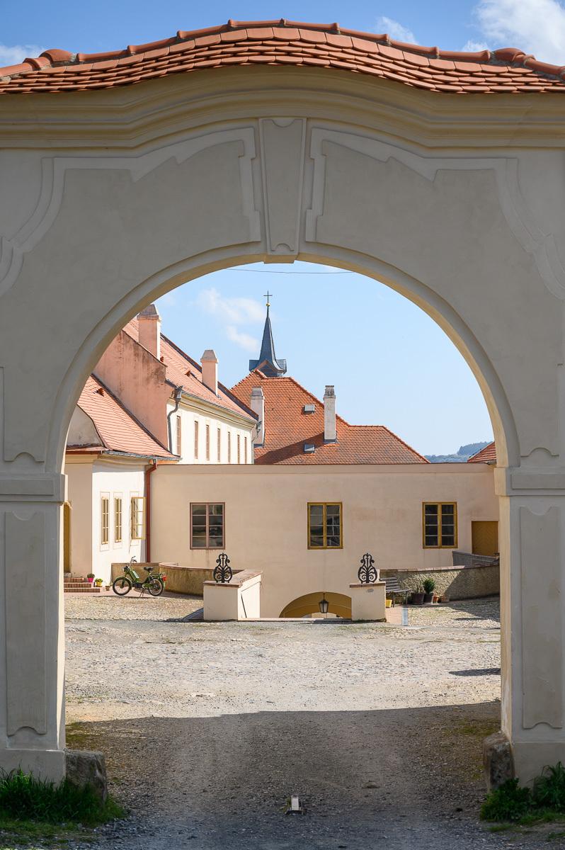 hlavní vstup do zámku