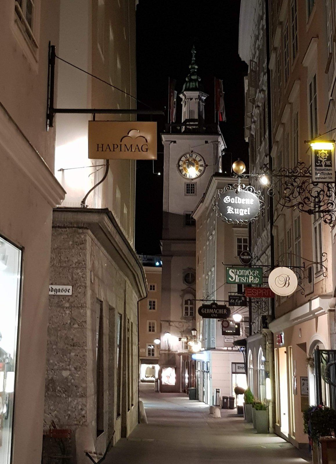 nočný Salzburg