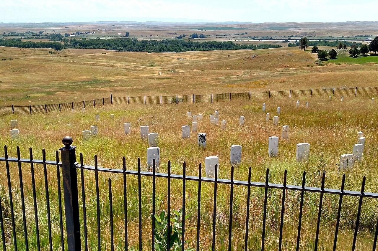 místo, kde padl sám Custer