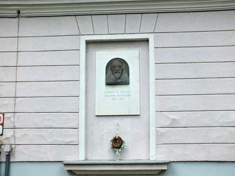 Mikuláš Konkoly, pamätná tabula - Geomagnetické Observatórium ÚVZ SAV v Hurbanove