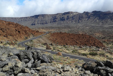 roads are very good on Tenerife, this one is below Pico del Tepe volcano