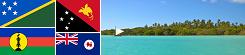 NOVÁ KALEDÓNIA, PAPUA NOVÁ GUINEA, TASMÁNIA,  ŠALAMÚNOVÉ OSTROVY