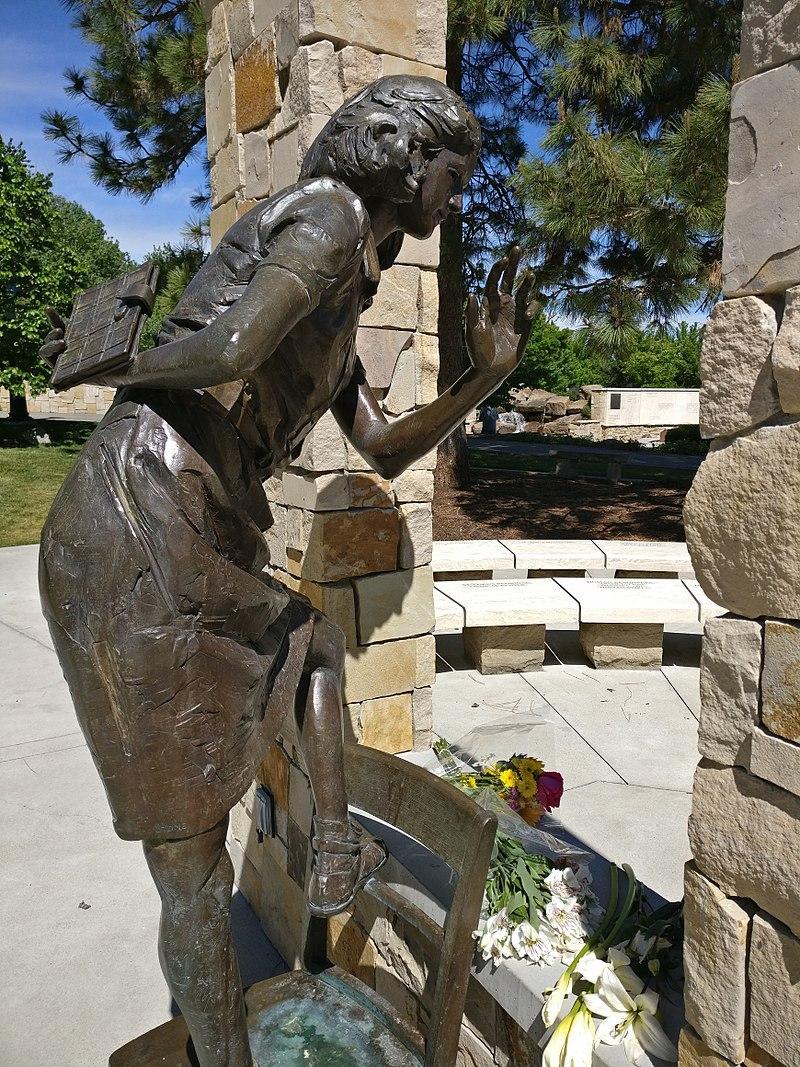 socha Anny Frankové v Boise
