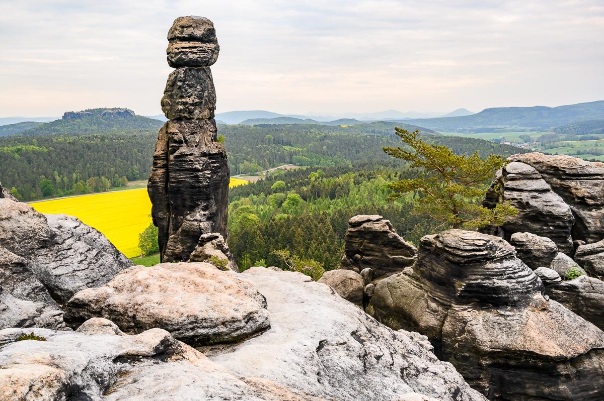 skalní věž Barbarine