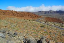 silnice vedoucí ke stanici lanovky pod Pico del Teide