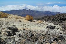 pohled z cesty u vyhlídky Pico Viejo