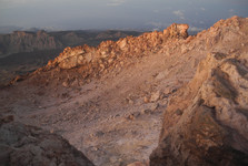 kráter sopky Pico del Teide