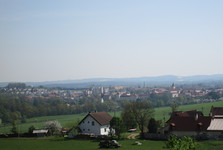 a vista over Horazdovice from the side of Prachne