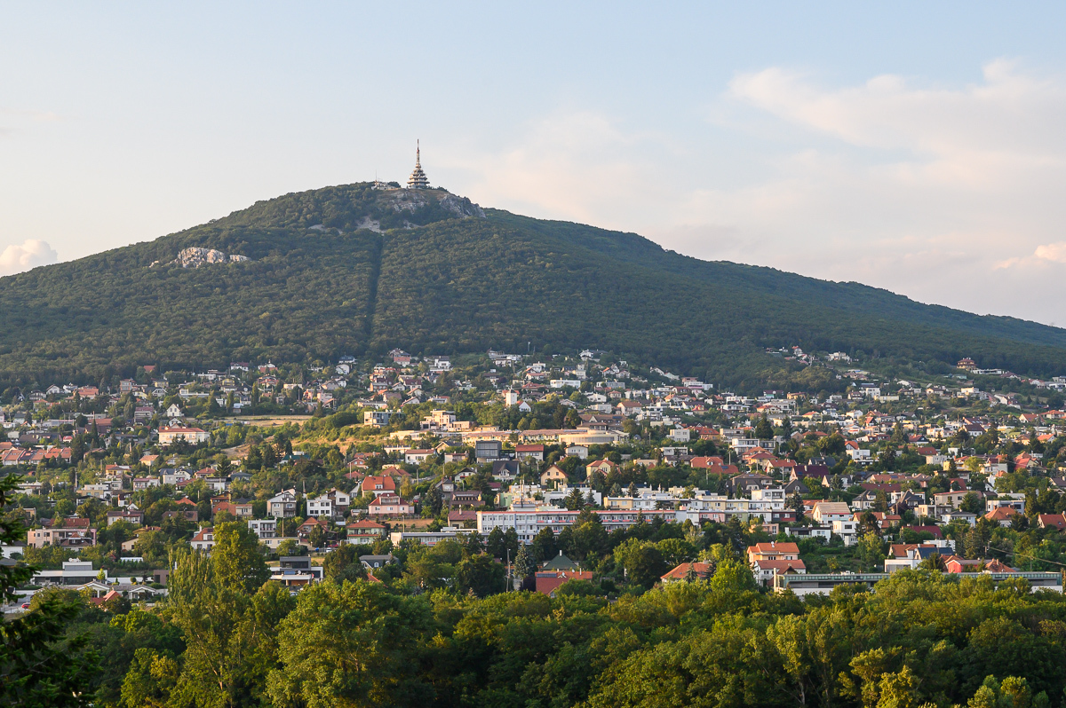 výhled na vrch Zobor