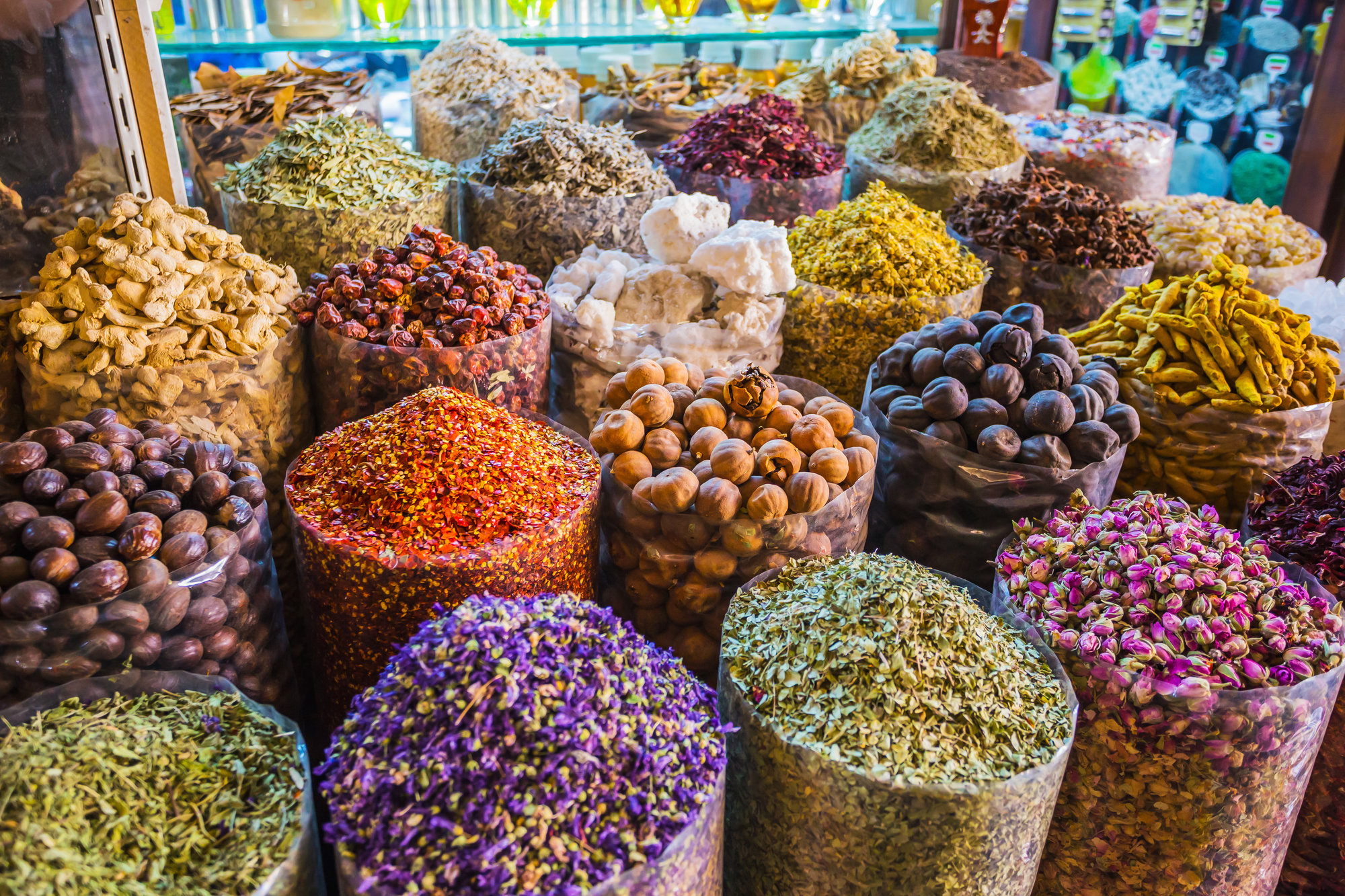 exotic spices at traditional Arabian marketplace