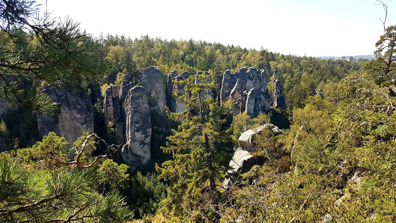 rock formations as seen from Vsetecka's lookout