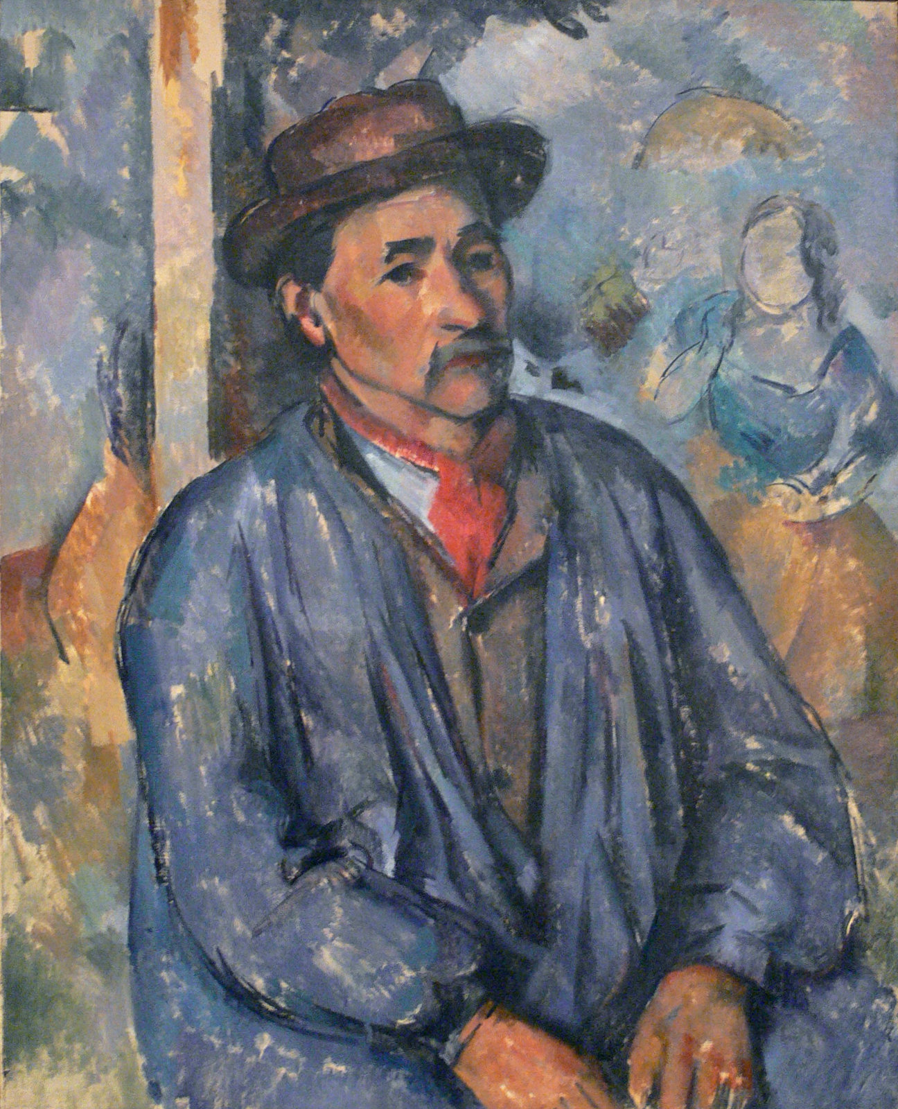 Paul Cézanne, Man in a Blue Smock
