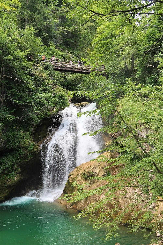 soutěska Vintgar, vodopád Šum