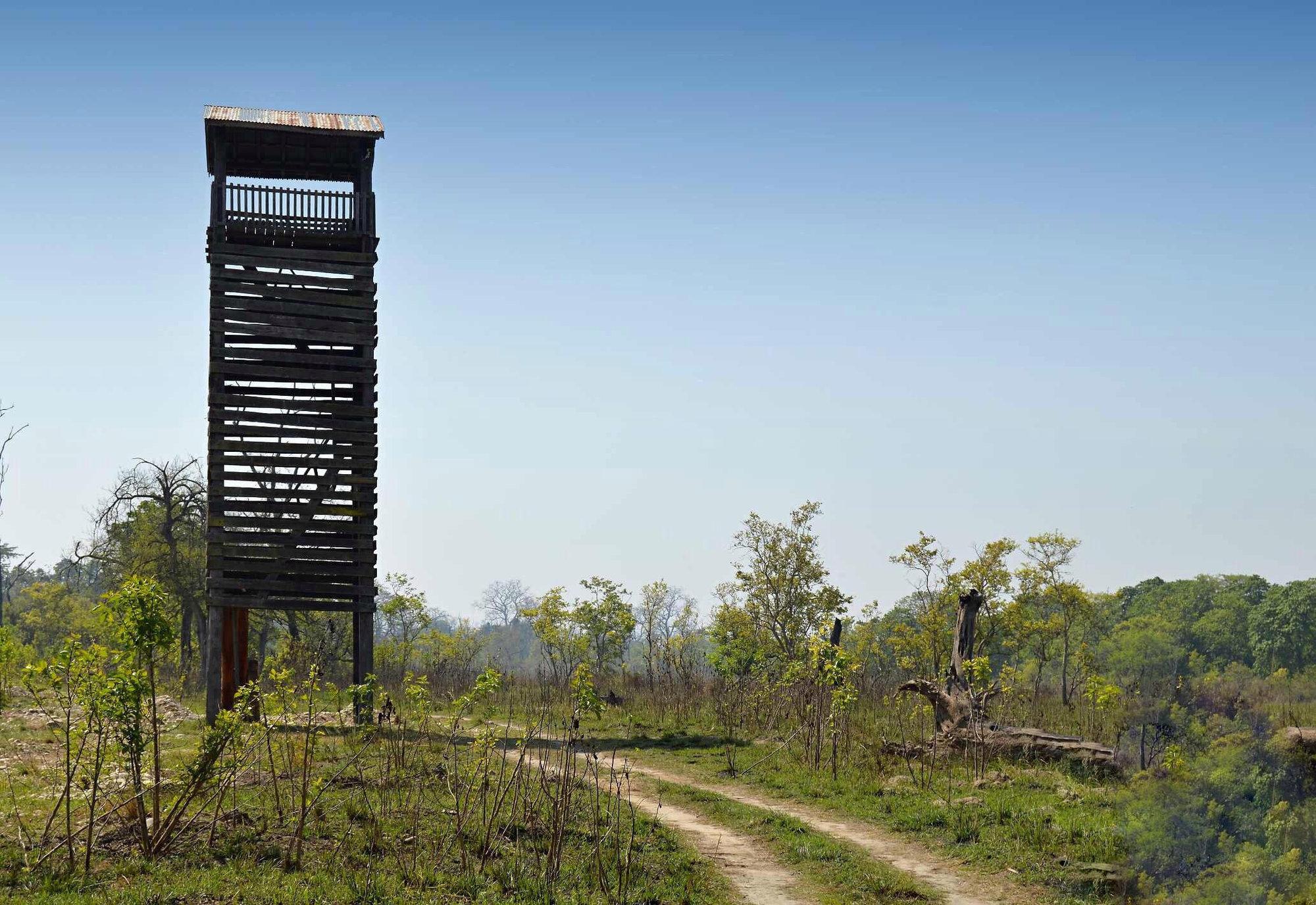 смотровая башня внутри национального парка