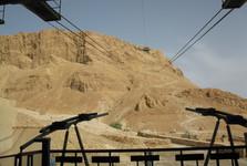 pohľad na Masadu zo spodnej stanice lanovky