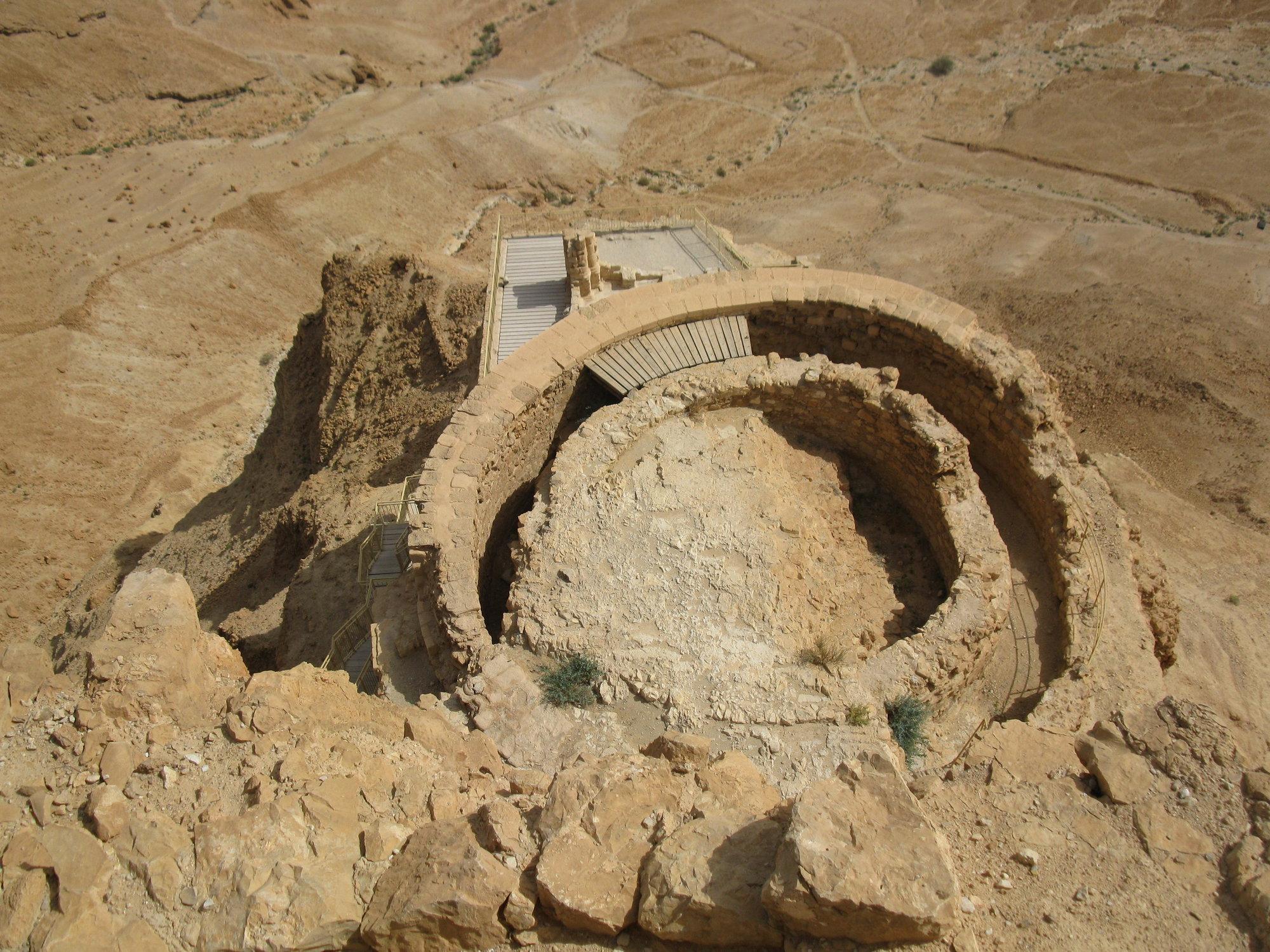 Masada sa aj napriek neustálym bojom na izraelskom území pomerne dobre zachovala