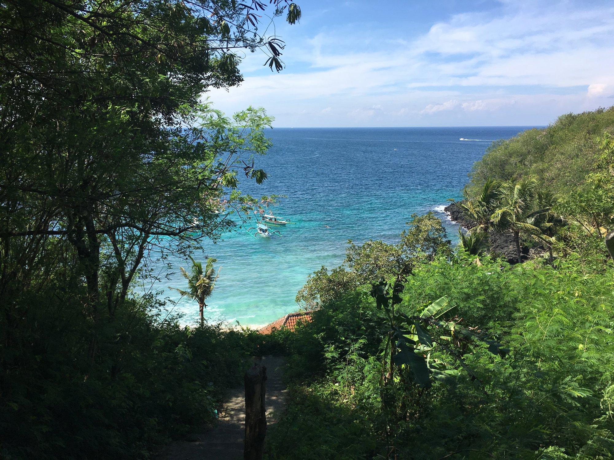 Pláže na východním pobřeží Bali