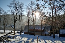 krásné slunečné ráno – start naší cesty na Labské