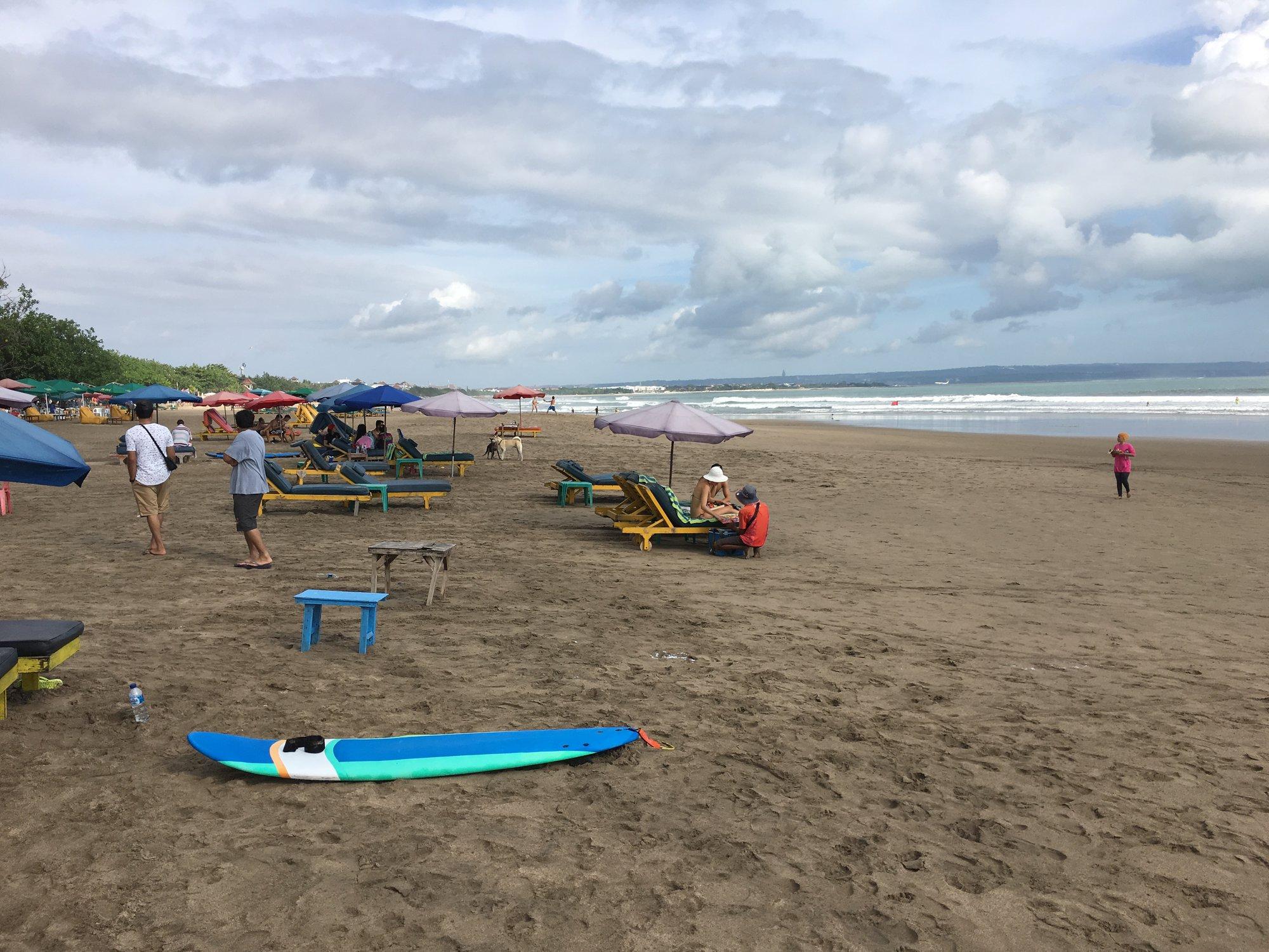 pláž Kuta Beach