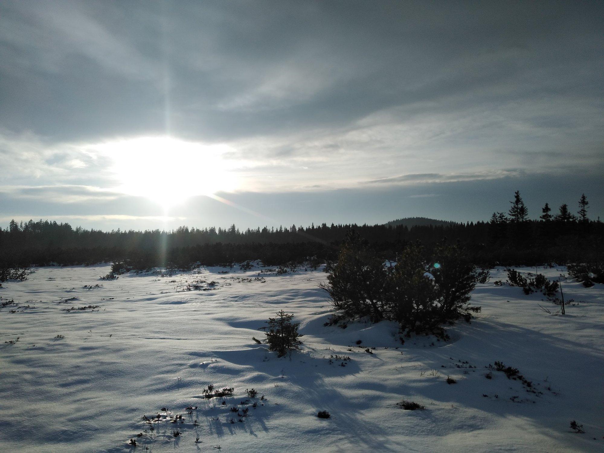 závěr jízdy – Božídarské rašeliniště