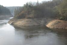 Otava tesne pred sútokom s Vltavou
