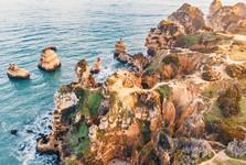 красивые скалы, вид с дрона