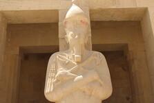 Деталь статуи в храме царицы Хатшепсут