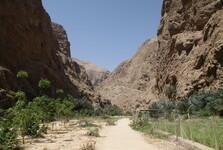 začiatok cesty do Wadi Shab
