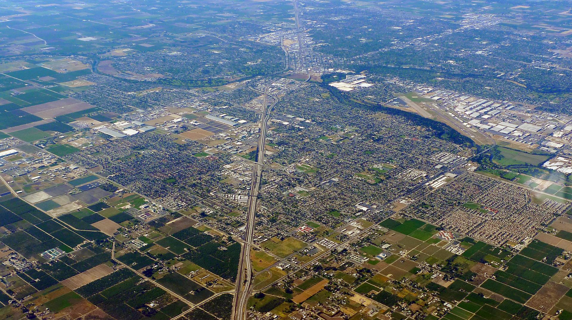 letecký pohled na Modesto