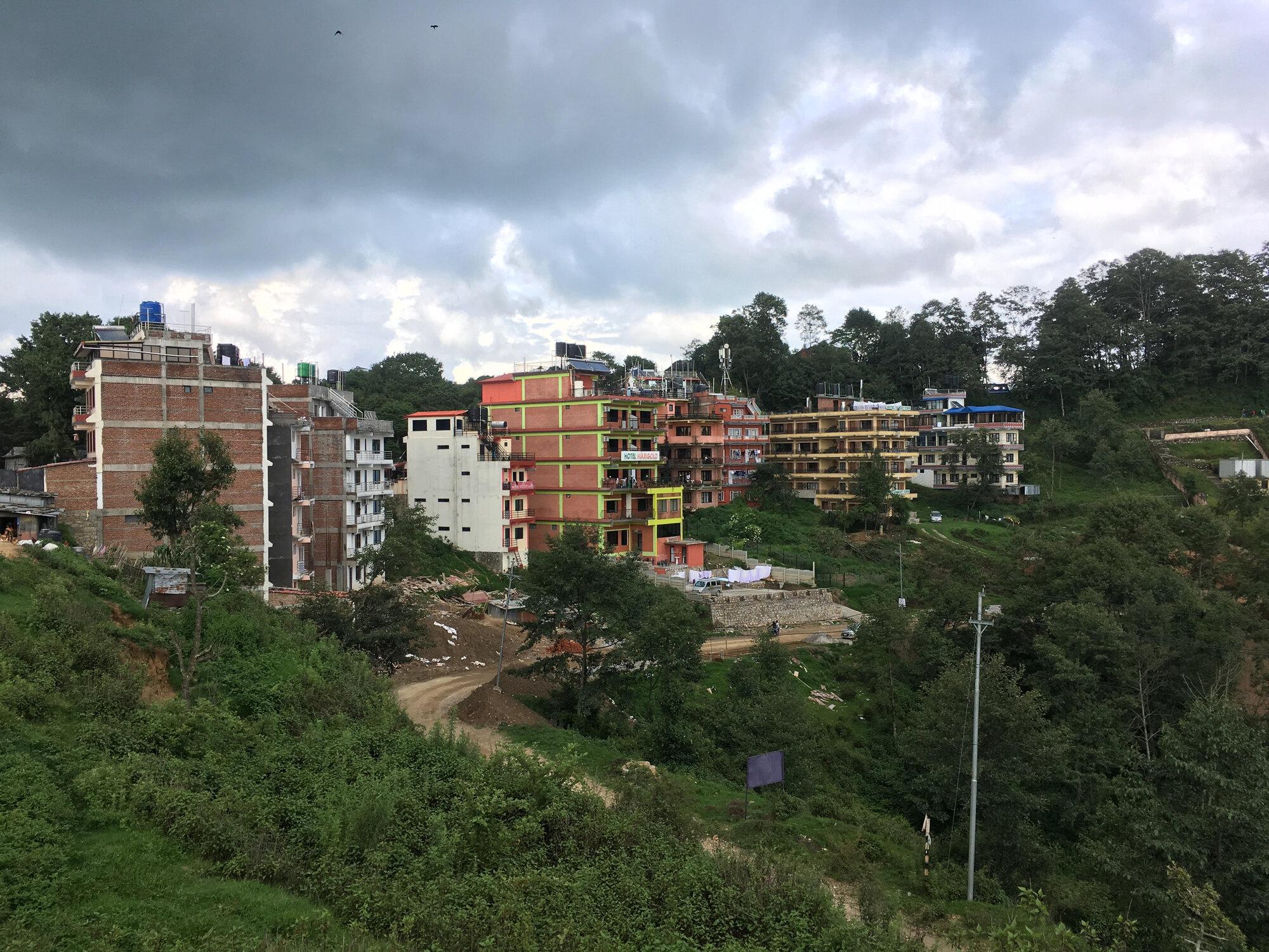 vesnice Nagarkot je opravdu malá