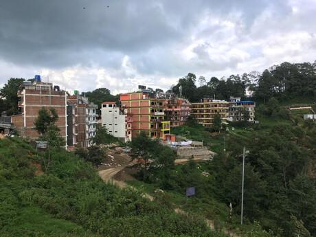 dedinka Nagarkot je naozaj malá