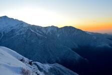 východ slunce z výškového tábora