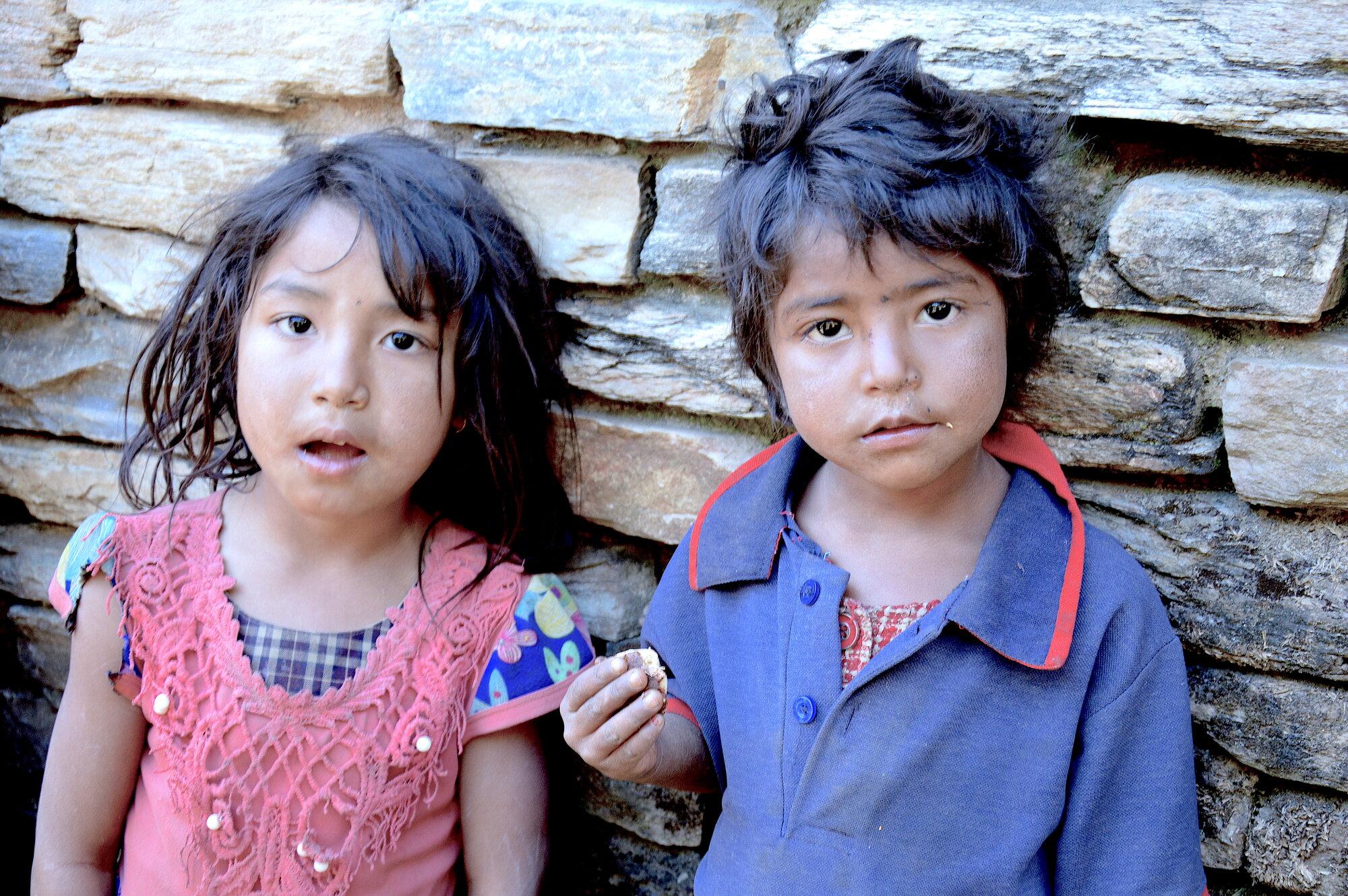 nepálské dětičky