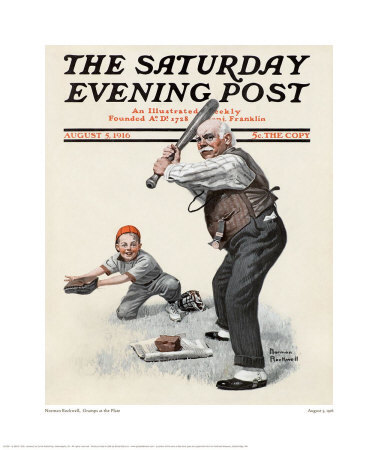 titulná strana kedysi populárneho magazínu The Saturday Evening Post