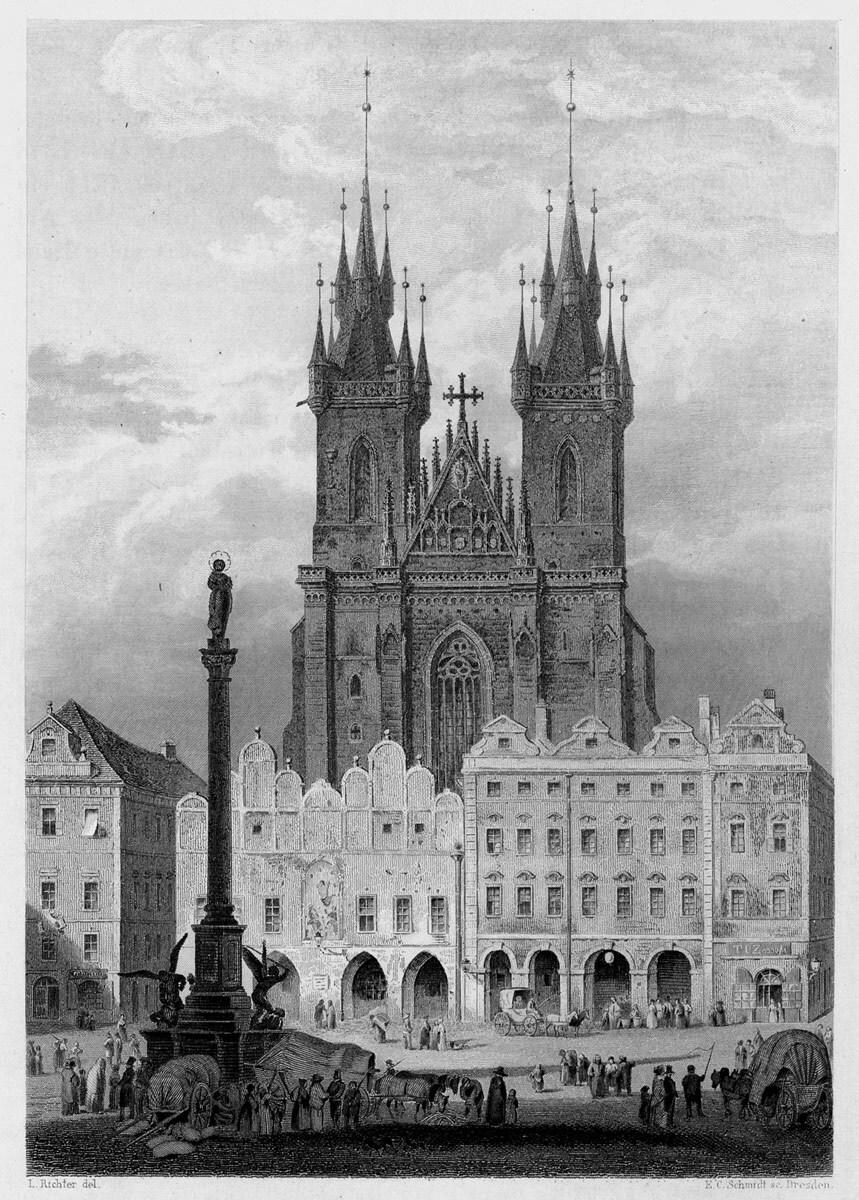 pražský mariánský sloup, Karl Herlossoh