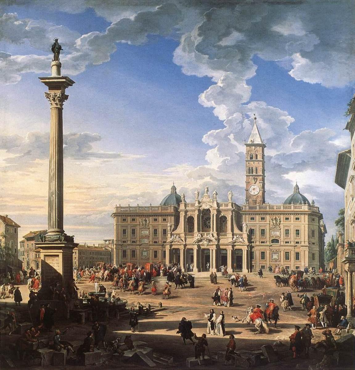 mariánský sloup v Římě, Giovanni Paolo Pannini