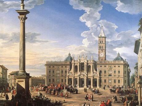 Mariánsky stĺp v Ríme, Giovanni Paolo Pannini, wikipédia.org