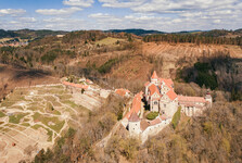 замок Пернштейн с дрона