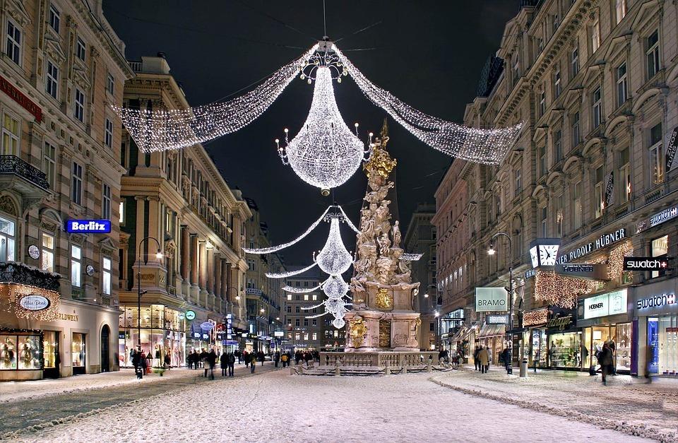 sloup Nejsvětější Trojice na náměstí Graben v centru Vídně
