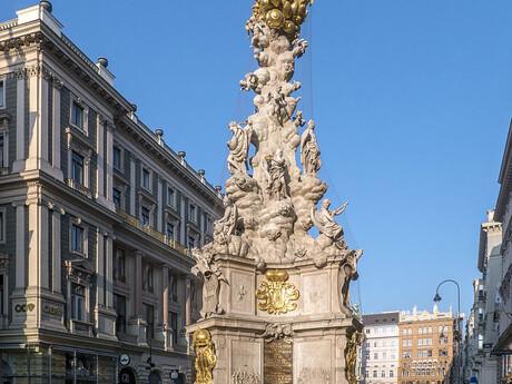 stĺp Najsvätejšej Trojice na námestí Graben v centre Viedne; wikipedia.org