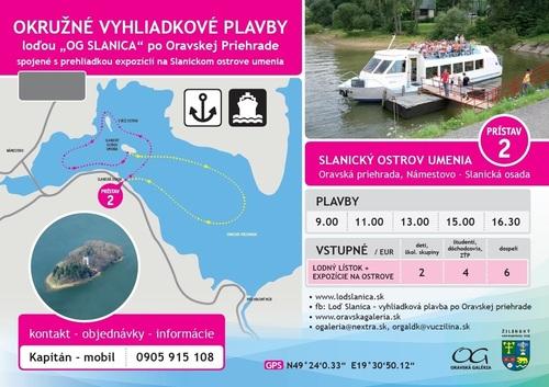 Vyhliadkové plavby, prehliadka expozícií na Slanickom ostrove umenia 2020
