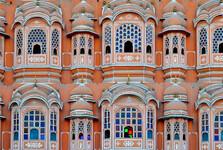 okna paláce Hawa Mahal