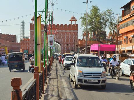 rušné ulice Jaipura